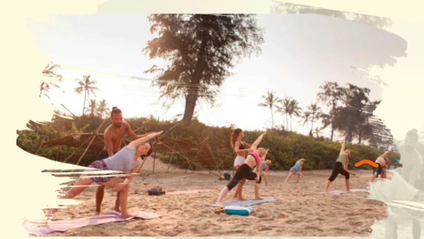 Пляж Paradise + Йога